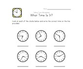 What Time Is It? - 5 Minute Intervals