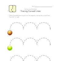 curved lines worksheet