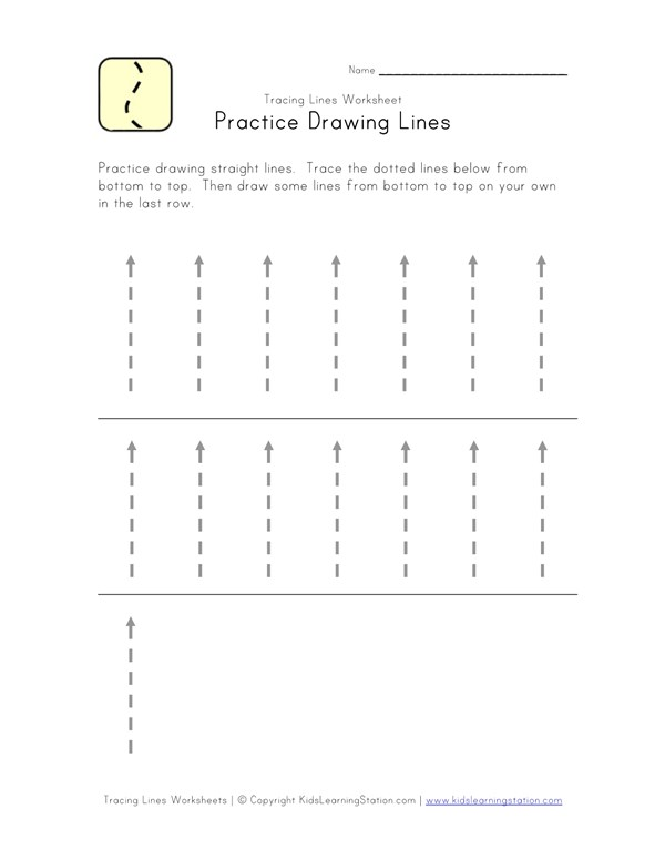 photo regarding Tracing Lines Worksheets Printable referred to as Traceable Strains Worksheet - Backside in direction of Supreme All Little ones Community