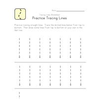 tracing vertical lines
