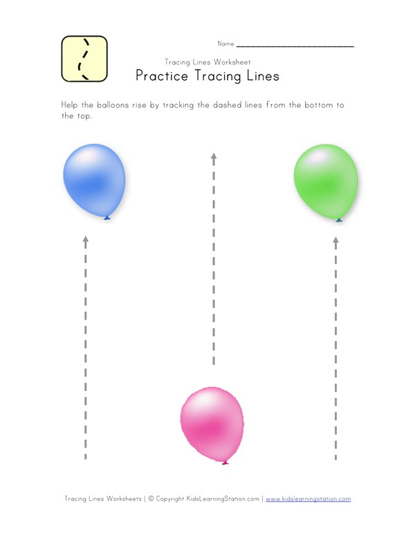 Tracing Lines Worksheet - Bottom to Top | All Kids Network