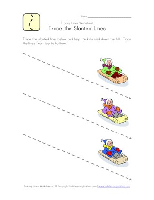 Tracing Lines Worksheets All Kids Network