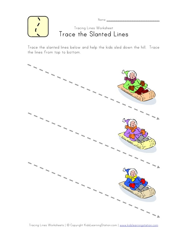Tracing Lines Worksheet | All Kids Network