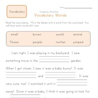 Worksheet 1st Grade Vocabulary Worksheets first grade vocabulary worksheets all kids network