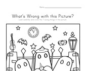 What's Wrong with the Picture - Halloween