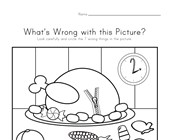 What's Wrong with the Picture - Thanksgiving