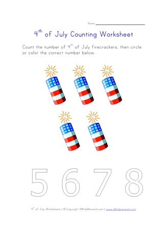 4th of july counting five