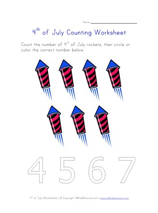 4th of july counting seven