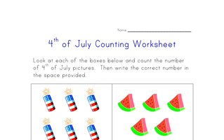 4th of july counting practice