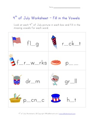 4th Of July Worksheets For Kids All Kids Network