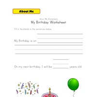 my birthday worksheet