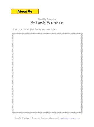 My Family Worksheet | All Kids Network
