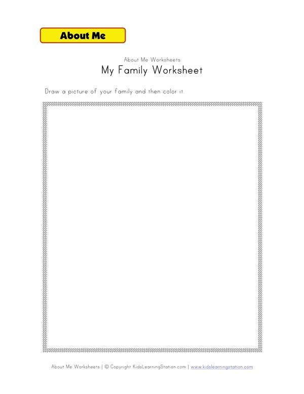 My Family Worksheet All Kids Network