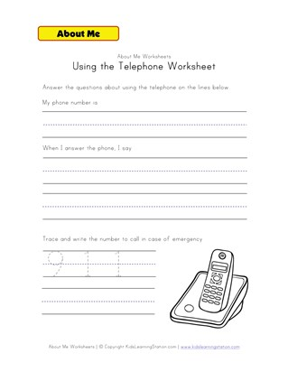 using the phone worksheet