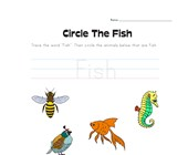 Circle the Fish Worksheet