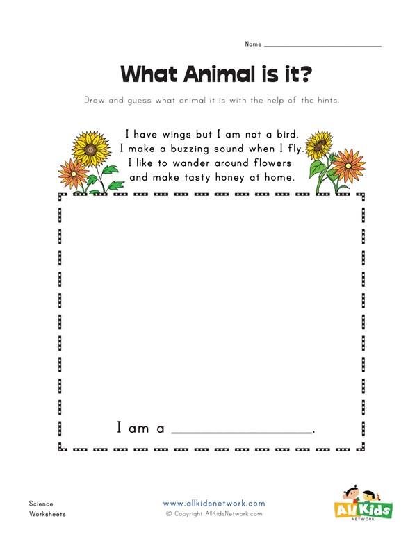 What animal is it bee worksheet all kids network ibookread PDF