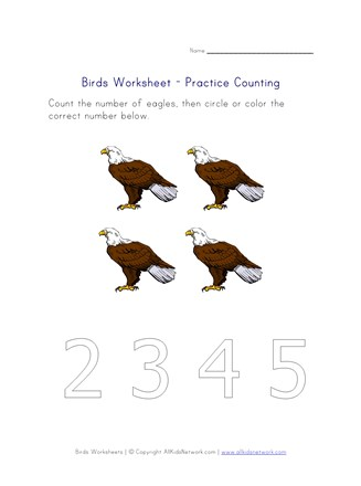 counting worksheet - number four
