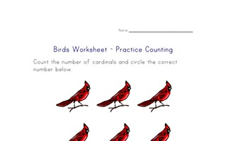counting worksheet - number eight