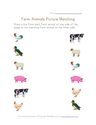 Farm Animals Worksheets All Kids Network