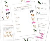 Farm Animals Worksheets