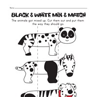 animal mix and match worksheet