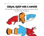 ocean animal mix and match worksheet