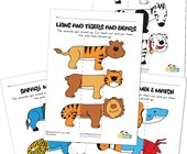 Animal Mix and Match Worksheets