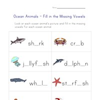 ocean spelling worksheet