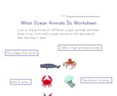 ocean life worksheet