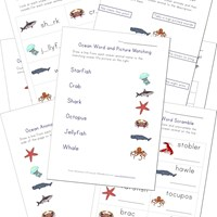Printable Ocean Animals Worksheets for Kids