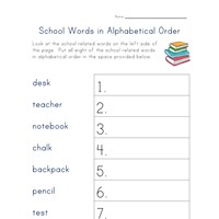 back to school alphabetical order worksheet