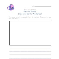 back to school draw and write worksheet