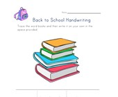 back to school handwriting books worksheet