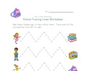 back to school tracing lines worksheet