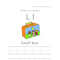 letter l alphabet worksheet