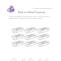 back to school count nine worksheet