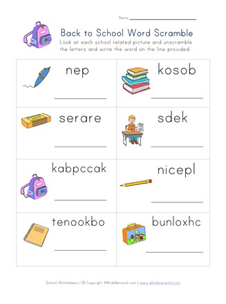 graphic relating to Printable Word Scrambler identified as Again in direction of College or university Phrase Scramble Worksheet All Little ones Community