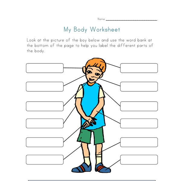 Body Parts Worksheet For Kids All Kids Network