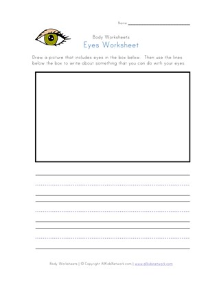 eyes worksheet