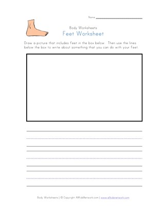 feet worksheet
