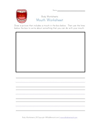 mouth worksheet