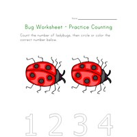 bugs worksheet counting two