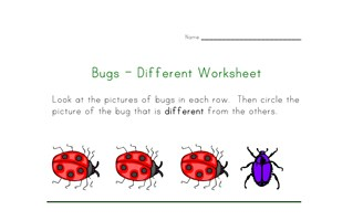 bugs different worksheet