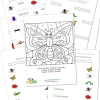 Printable Bug Worksheets for Kids