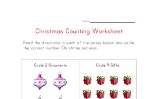 christmas worksheet count
