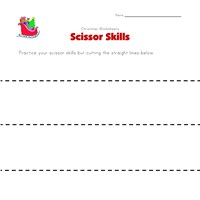 christmas cutting lines worksheet