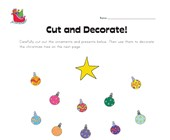 Christmas Cutting Worksheet
