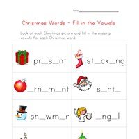 christmas words worksheet