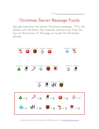christmas secret message puzzle