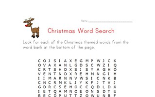 christmas word search